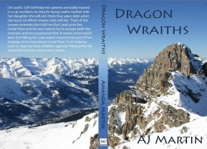 The cover I mocked-up for Dragon Wraiths to print a copy via Lulu