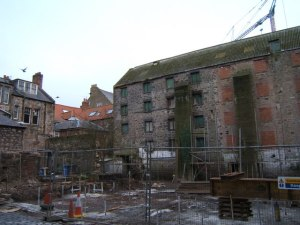 Dewar's Lane Granary (The Berwick YHA building prior to coversion) from Sallyport to Barbara Carr
