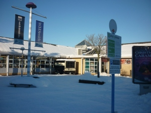 Blyth Services in the snow. Spot the Costa sign. Photo taken on 06/12/2010 by Ian Sykes
