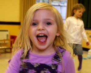 My daughter having fun at her third birthday. Was it really a year ago?