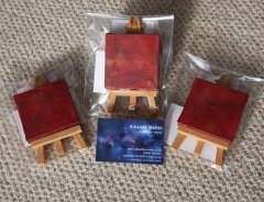 New mini paintings for the Valentines Display at Art in the Heart