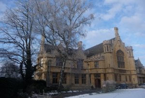 The Great Hall, Oundle School, in the snow