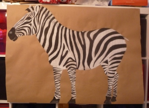 I'm rather proud of my Pin the Tail on the Zebra