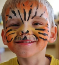 Aaron as a tiger