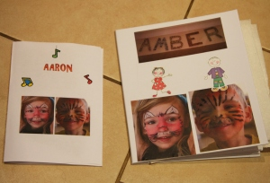 Amber's photo book and the one I made so Aaron wouldn't feel left out