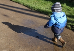 Running for the muddy puddle
