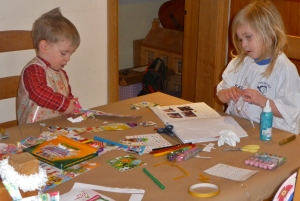Craft started with book making at 7,30am...