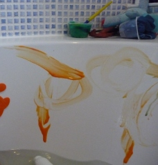 Bath Art: An experiment (next time maybe I'll just use paint!)