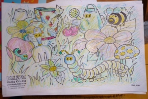 Hubbie's Entry into our Colouring Competition