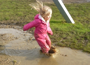 New Olympic Sport - Long Puddle Jump
