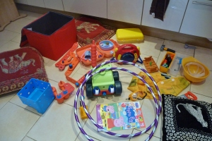 A fraction of the toys used before 9am
