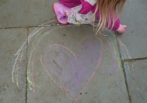 Pavement chalks work better in the wet