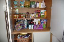 Gorgeous Hubbie tidied my larder today. Now that's love.