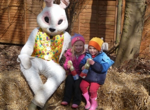 Meeting the Easter  Bunny at the Farm