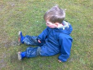 """I sad cause my boots are muddy"""
