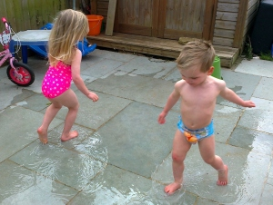 Puddles more fun than Paddling Pools