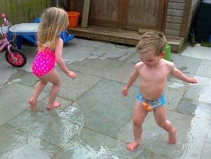 Puddles more fun than Paddling Pools