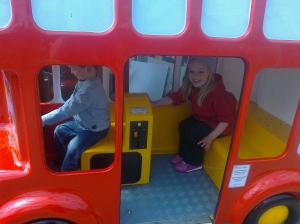 Wheels on the Bus ride at the Garden Centre