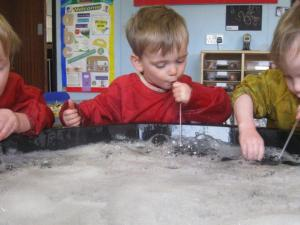 Blowing Bubbles at Nursery