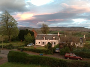 The gorgeous Scottish hills from my friend's house