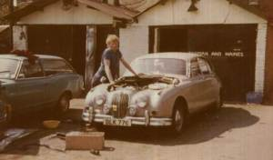 Dad and his first garage