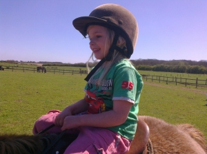 Amber's first pony ride