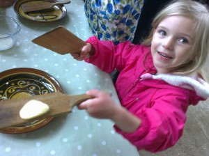 Making Butter at Wimpole Home Farm