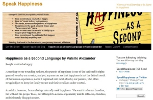 The Speak Happiness Blog