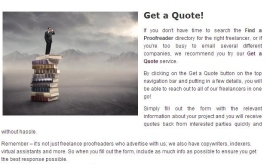 The Findaproofreader website