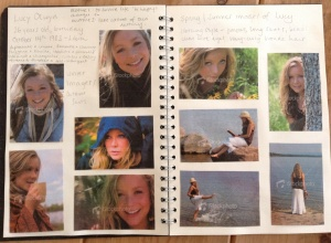 My scrapbook for Finding Lucy. All images are from istockphoto © David Meharey
