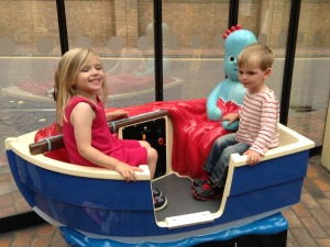 In the boat with Iggle Piggle