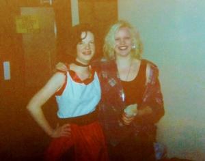 Me in sixth form (it was fancy dress, btw)