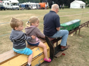 Riding on the mini train today