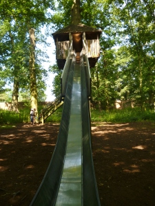 The tallest slide in the world (or so it seemed to my 2yo)