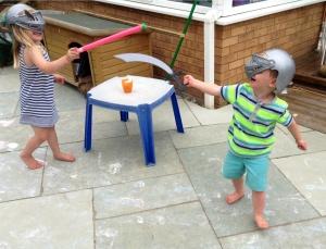 Swords. Wasn't much of an alternative!