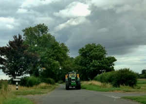 Tractors on the road (wasn't driving when took this!)