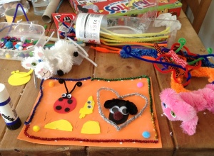 Craft picture 'for her teachers'