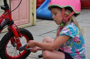 'Fixing the bikes'