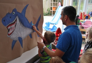 Pin the tail on the shark
