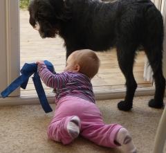 My daughter playing with Kara