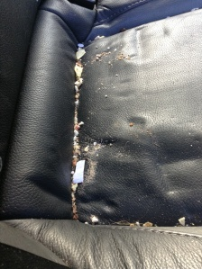 Car seat crumbs