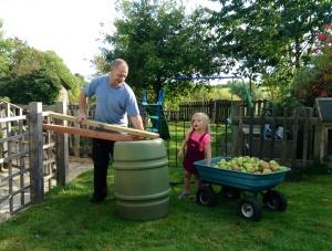 Crushing apples