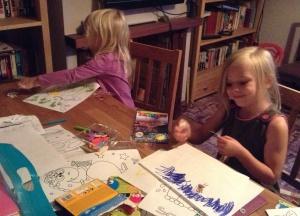 Cousins doing craft