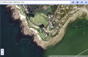 Satellite view of St Mawes Castle