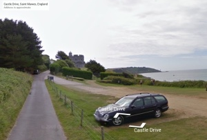Streetview of St Mawes car park