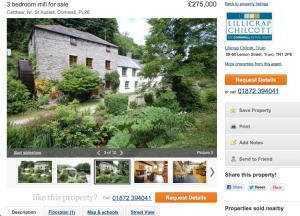 A house Claire could buy in Cornwall