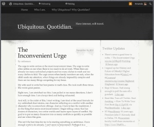 The Inconvenient Urge