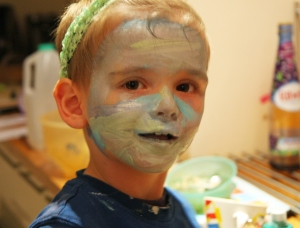 Artistic face painting!