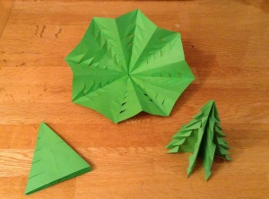 Origami Trees became giant snowflakes