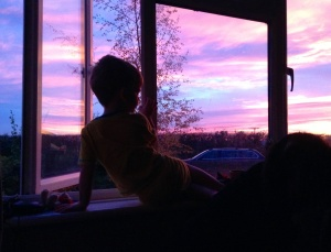 Watching the Colourful Sunrise